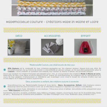 Création RédactiWest : Mademoiselle-Couture.fr est en ligne